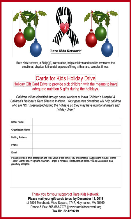 HOLIDAY GIFT CARD DRIVE!!
